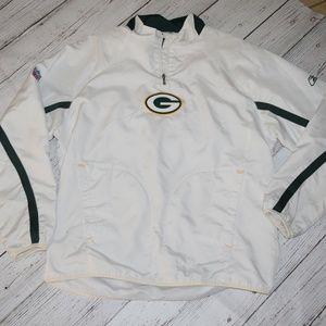 Green Bay Packers Pull Over 1/4 Zip Jacket REEBOK